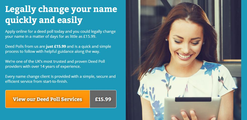 Deed Poll service UK